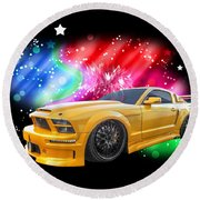 Star Of The Show - Mustang Gtr Round Beach Towel
