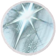 Star Of Wonder Round Beach Towel