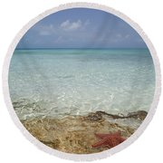 Star Paradise Round Beach Towel