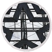 Star Power Roanoke Virginia Round Beach Towel