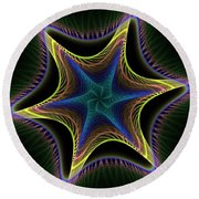 Star Twist Spiral Round Beach Towel