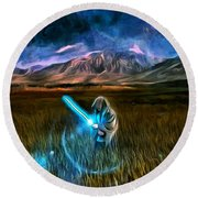 Star Wars Field Round Beach Towel