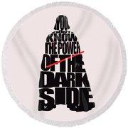 Star Wars Inspired Darth Vader Artwork Round Beach Towel