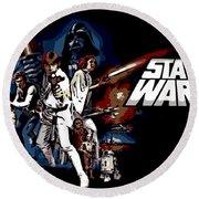 Star Wars Movie Poster Round Beach Towel
