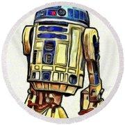 Star Wars R2d2 Droid - Da Round Beach Towel