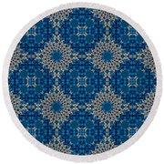 Stardrop Diamond Blue Round Beach Towel