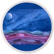 Stardust Round Beach Towel
