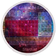 Stardust Periodic Table Round Beach Towel
