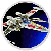 Starfighter X-wings - Da Round Beach Towel
