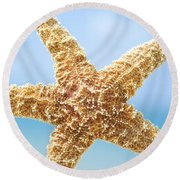 Starfish Close-up Round Beach Towel