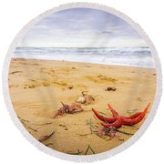 Starfish Round Beach Towel by Gary Gillette