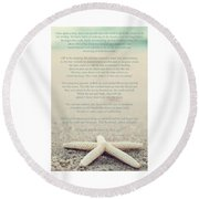 Starfish Make A Difference Vintage Set 1 Round Beach Towel