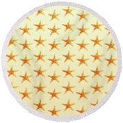 Starfish Pattern. Round Beach Towel