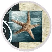 Starfish Spell Round Beach Towel