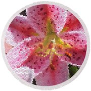 Stargazer Stained Glass Round Beach Towel