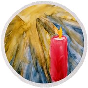 Starlight And Candlelight Round Beach Towel