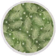 Starlight Christmas Viii Round Beach Towel