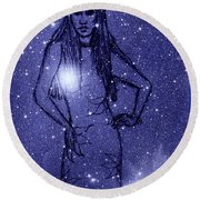 Starlight Of Space And Time 2 Round Beach Towel