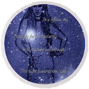 Starlight Of Space And Time 4 Round Beach Towel