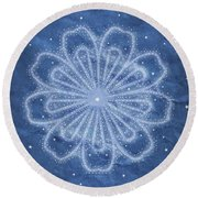 Starry Kaleidoscope Round Beach Towel