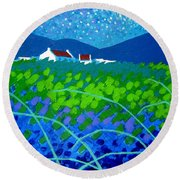 Starry Night In Wicklow Round Beach Towel