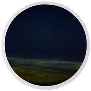 Starry Night Round Beach Towel