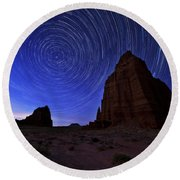 Stars Above The Moon Round Beach Towel