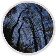 Stars And Silhouettes Round Beach Towel