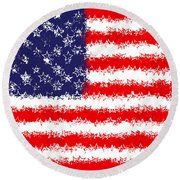 Stars And Stars And Stripes Round Beach Towel