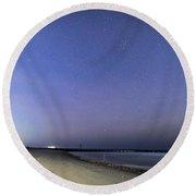 Stars At Folly Beach Round Beach Towel