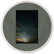 Stars On The Beach Round Beach Towel