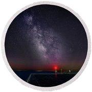 Stars Over Lake Ontario Round Beach Towel