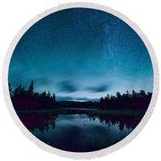 Stars Over Lake Vermilion Round Beach Towel