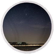Stars Over The Fy8 Round Beach Towel