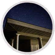 Stars Over The Pavilion Round Beach Towel