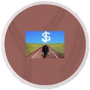 Starting A Small Business Round Beach Towel