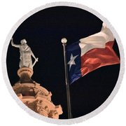 State Building Round Beach Towel