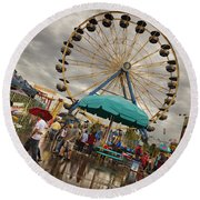 State Fair Of Oklahoma II Round Beach Towel