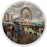 State Fair Of Oklahoma Round Beach Towel