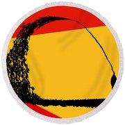 State Of Mind Round Beach Towel