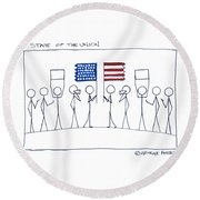 State Of The Union Round Beach Towel