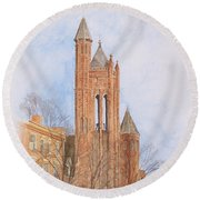 State Street Church Round Beach Towel