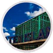 Staten Island Ferry Terminal Round Beach Towel