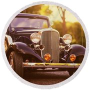 Station Wagon Round Beach Towel
