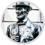 Statue Of Abraham Lincoln #8 Round Beach Towel