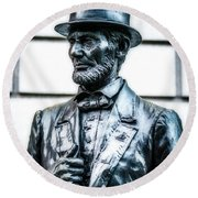 Statue Of Abraham Lincoln #9 Round Beach Towel