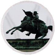 Statue Of Archduke Charles, Heldenplatz, Vienna Round Beach Towel