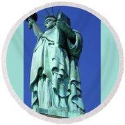 Statue Of Liberty 10 Round Beach Towel