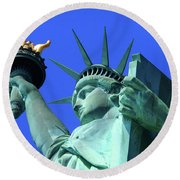 Statue Of Liberty 11 Round Beach Towel
