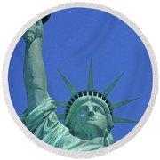 Statue Of Liberty 14 Round Beach Towel
